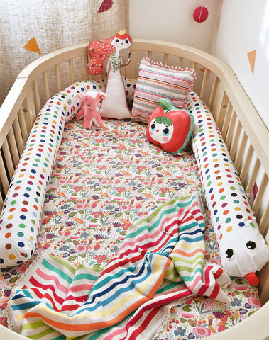 Colorful bedding with flowers in nursery