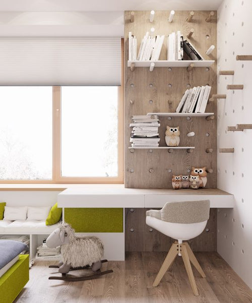 Use natural light for your kids' desk corner