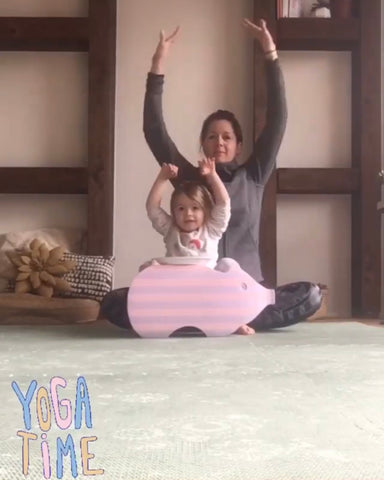 5.Exercising  Together with your little one or solo when your child isn't using the mat