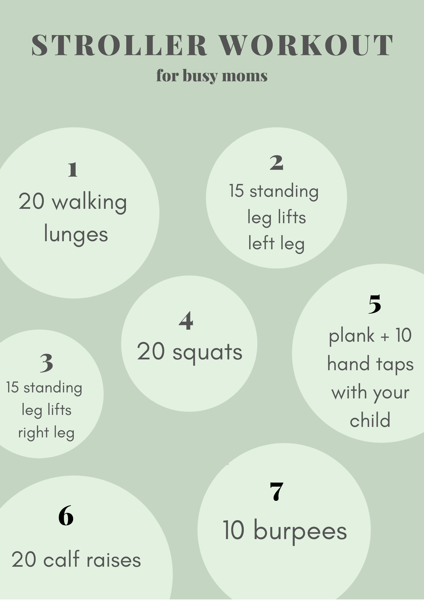 Stroller Workout for Busy Moms
