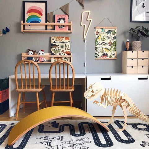 Kids room desk corner decoration tips