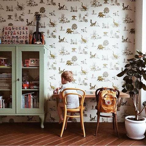 Interior styling kids room wallpaper