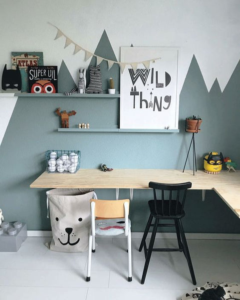 kids interior desk corner
