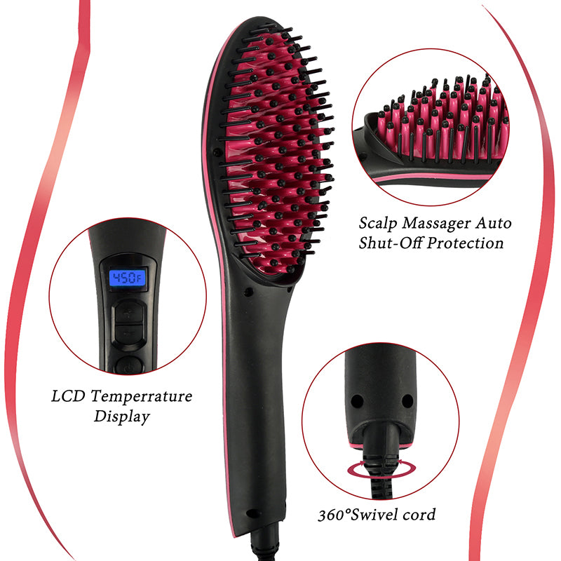 Hair Straightener Brush 12