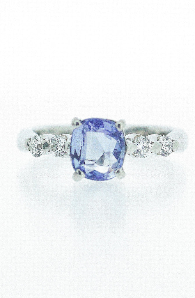 2.04ct Sapphire and Diamond Ring