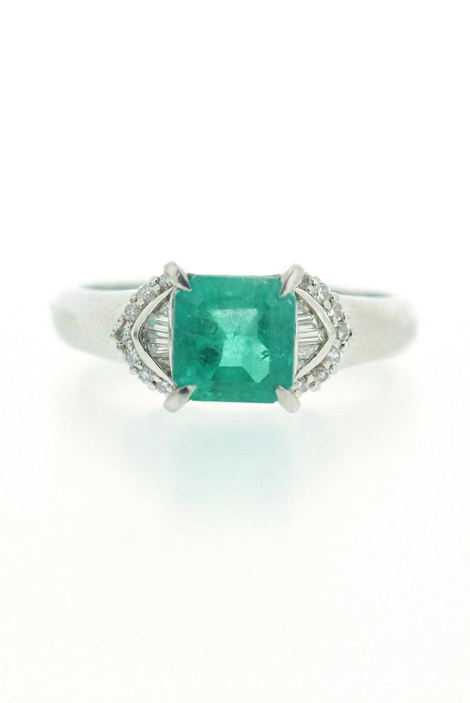 1.58ct Emerald and Diamond Ring