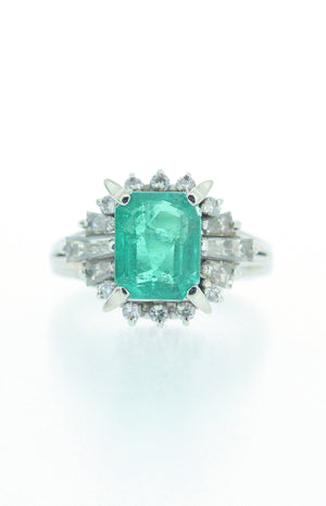 2.45ct Emerald and Diamond Ring