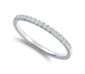 Round Brilliant Pave Set Band
