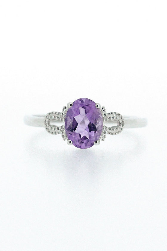 1.09ct Amethyst and Diamond Ring