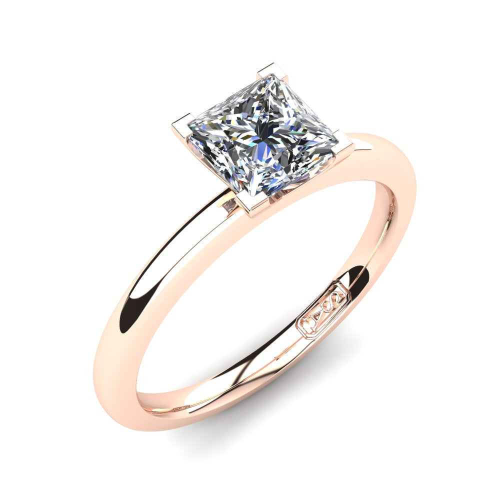 'Casey' Princess Cut Engagement Ring