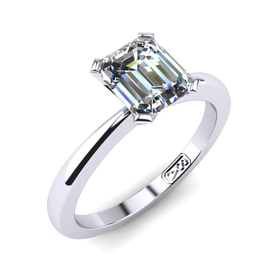 'Grace' Emerald Cut Engagement Ring