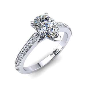 'Nadia' Pear Cut Engagement Ring