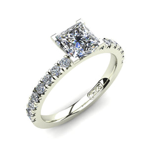 'Emily' Princess Cut Engagement Ring