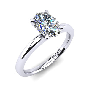 'Casey' Oval Cut Engagement Ring