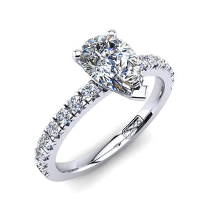 'Emily' Pear Cut Engagement Ring