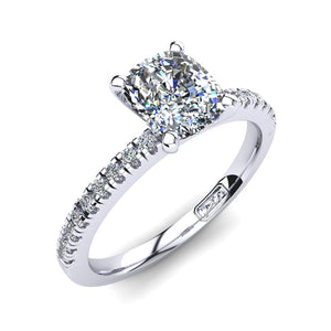 'Chloe' Cushion Cut Engagement Ring