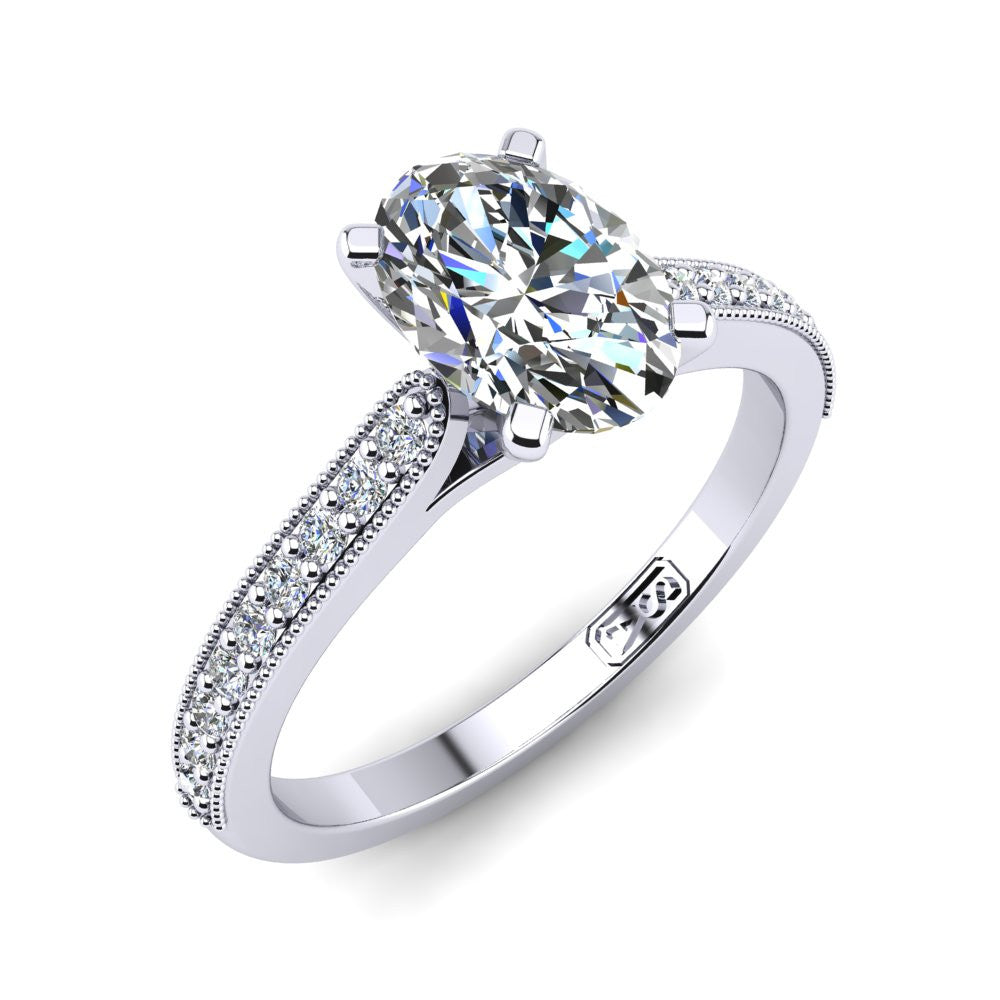 'Nadia' Oval Cut Engagement Ring