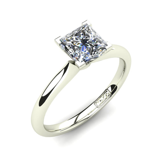 'Delta' Princess Cut Engagement Ring