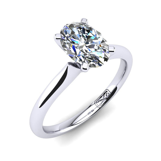 'Delta' Oval Cut Engagement Ring
