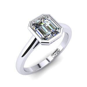 'Abbie' Emerald Cut Engagement Ring