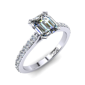 'Sasha' Emerald Cut Engagement Ring
