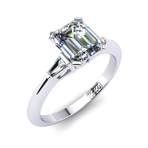'Marni' Emerald Cut Engagement Ring