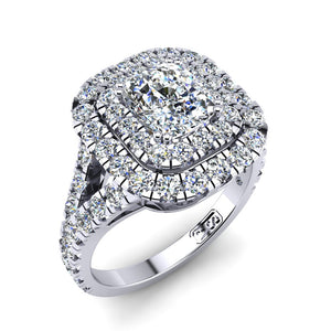 'Emma' Cushion Cut Engagement Ring