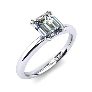 'Casey' Emerald Cut Engagement Ring