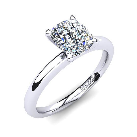 'Casey' Cushion Cut Engagement Ring