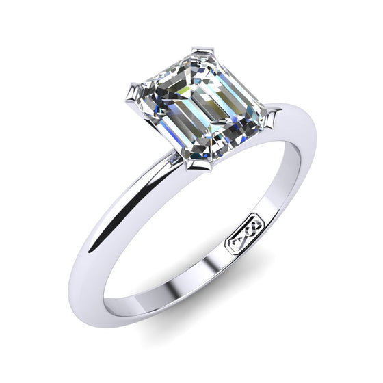 'Nicole' Emerald Cut Engagement Ring
