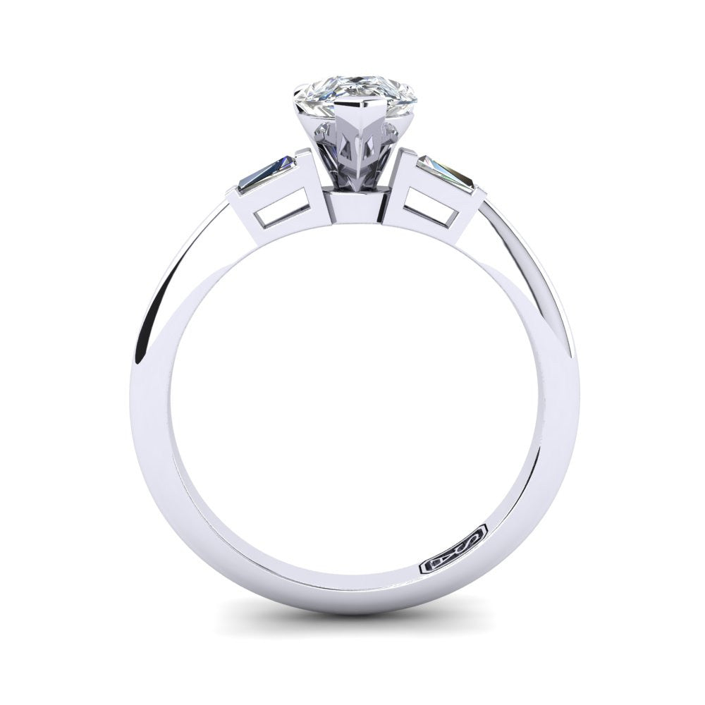 'Marni' Pear Cut Engagement Ring
