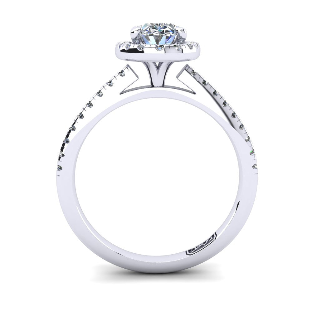 'Jenna' Oval Cut Engagement Ring