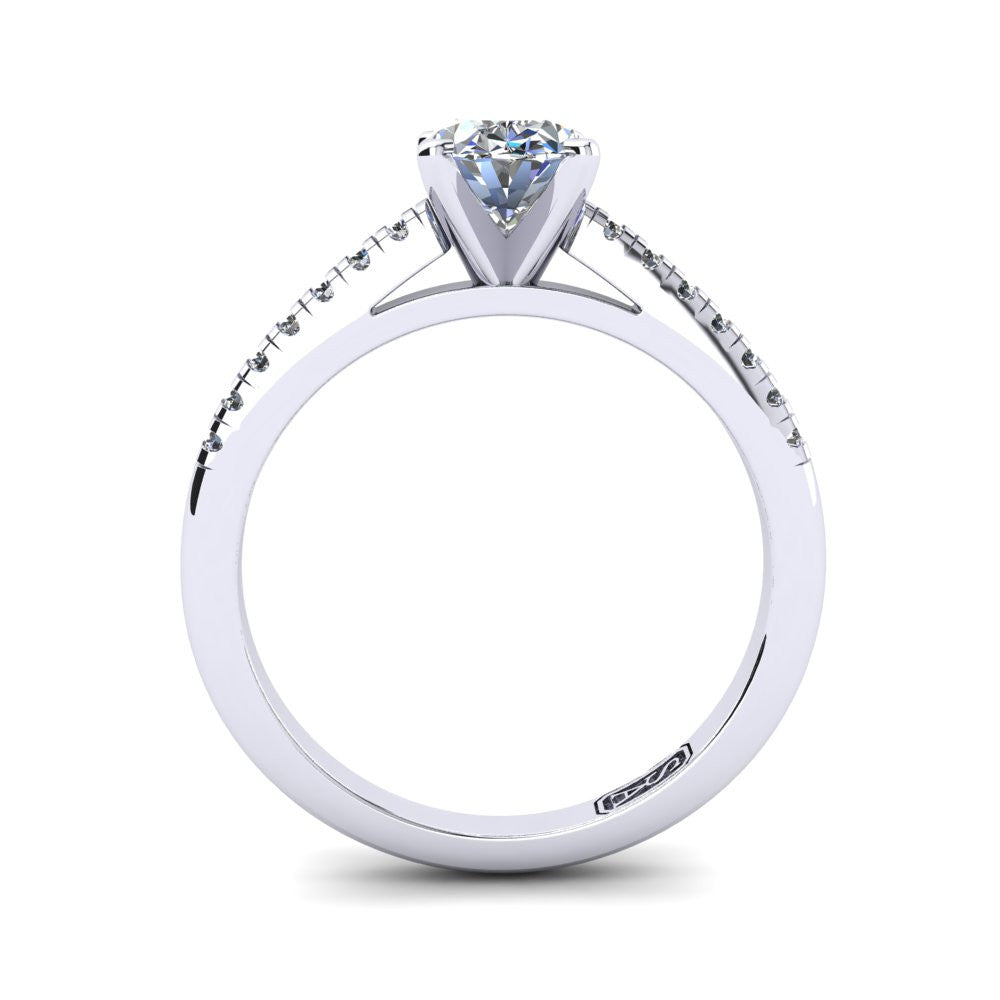 'Julia' Oval Cut Engagement Ring