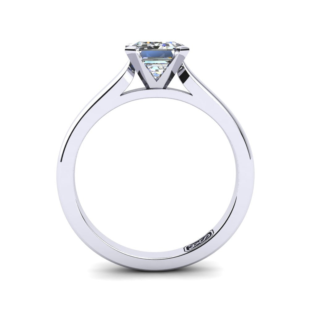 'Katie' Emerald Cut Engagement Ring