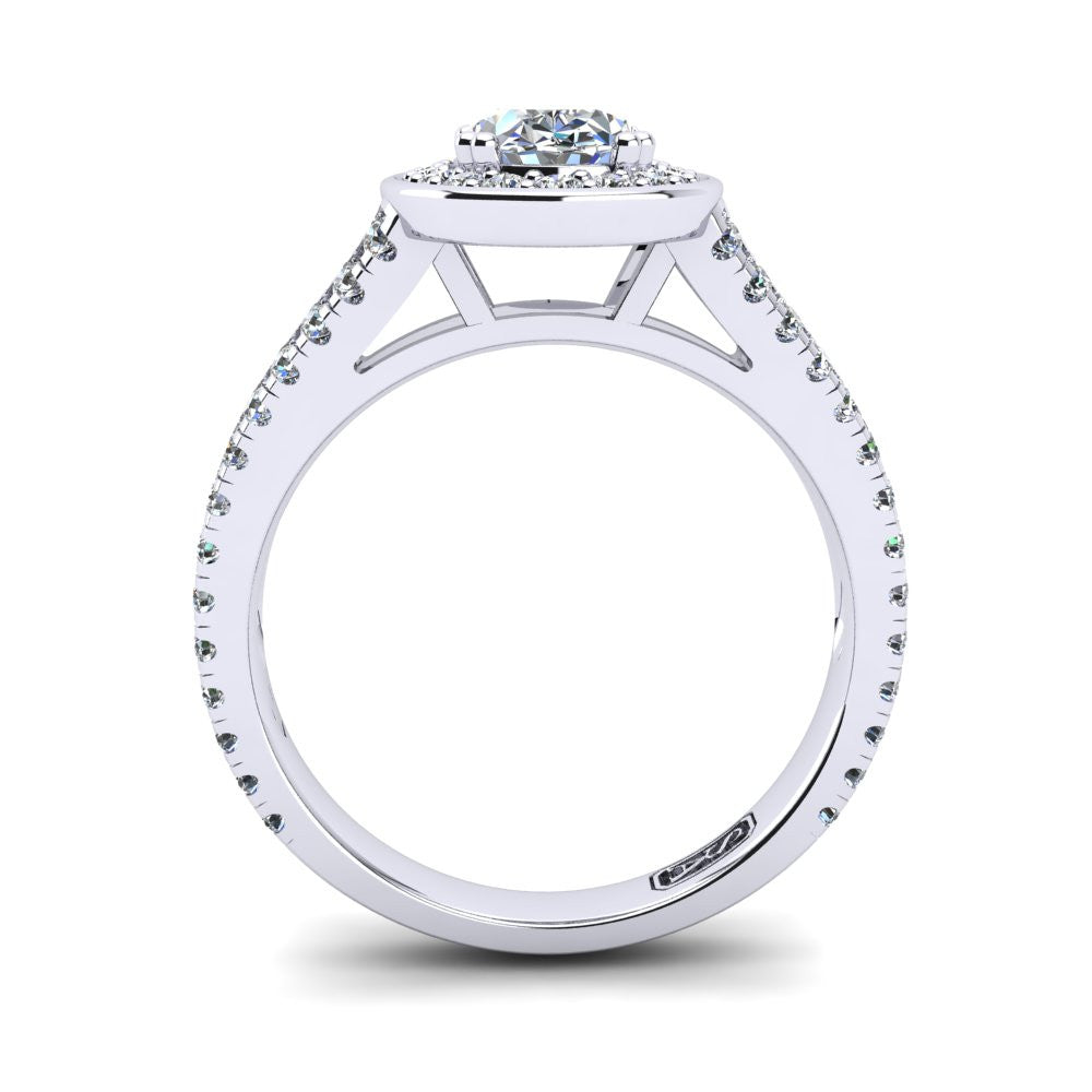 'Flora' Oval Cut Engagement Ring