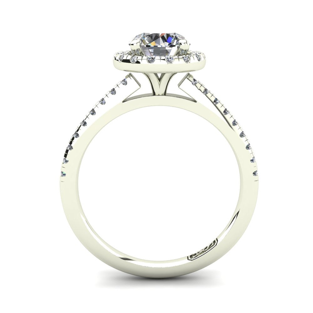 'Jenna' Round Brilliant Cut Engagement Ring