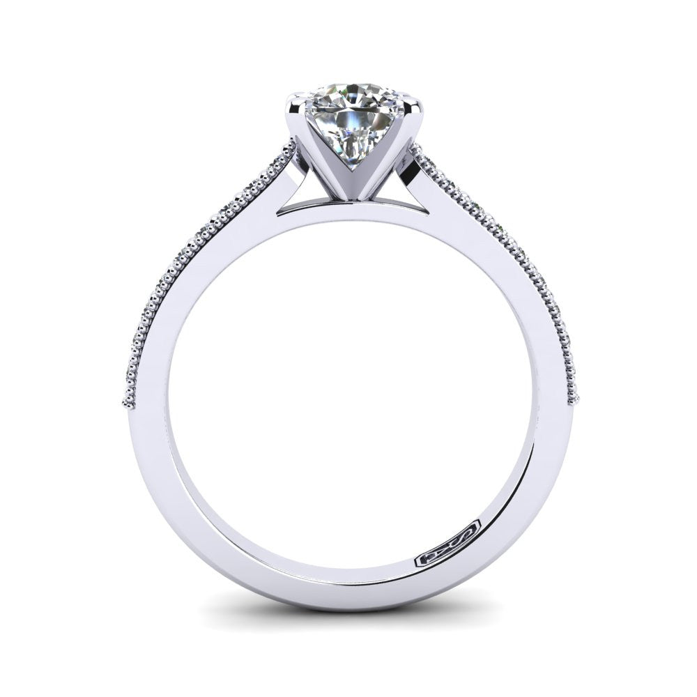 'Nadia' Cushion Cut Engagement Ring