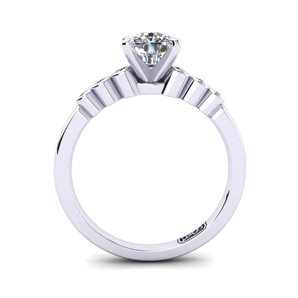 'Riley' Cushion Cut Engagement Ring