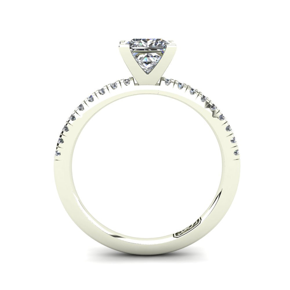 'Chloe' Princess Cut Engagement Ring