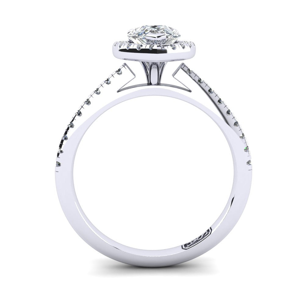 'Jenna' Pear Cut Engagement Ring