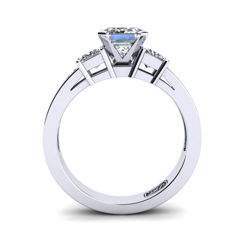 'Tayla' Emerald Cut Engagement Ring