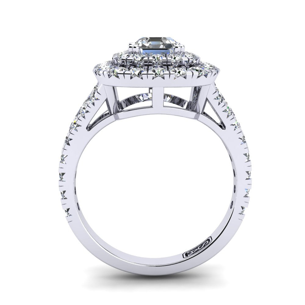 'Emma' Emerald Cut Engagement Ring