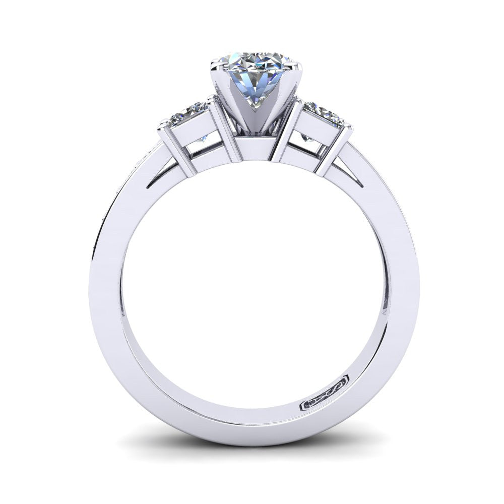 'Tayla' Oval Cut Engagement Ring