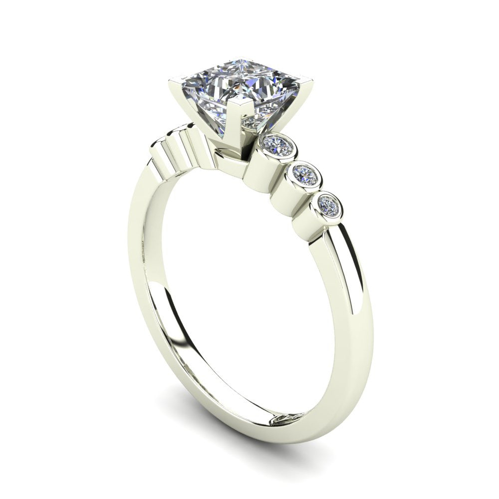 'Riley' Princess Cut Engagement Ring