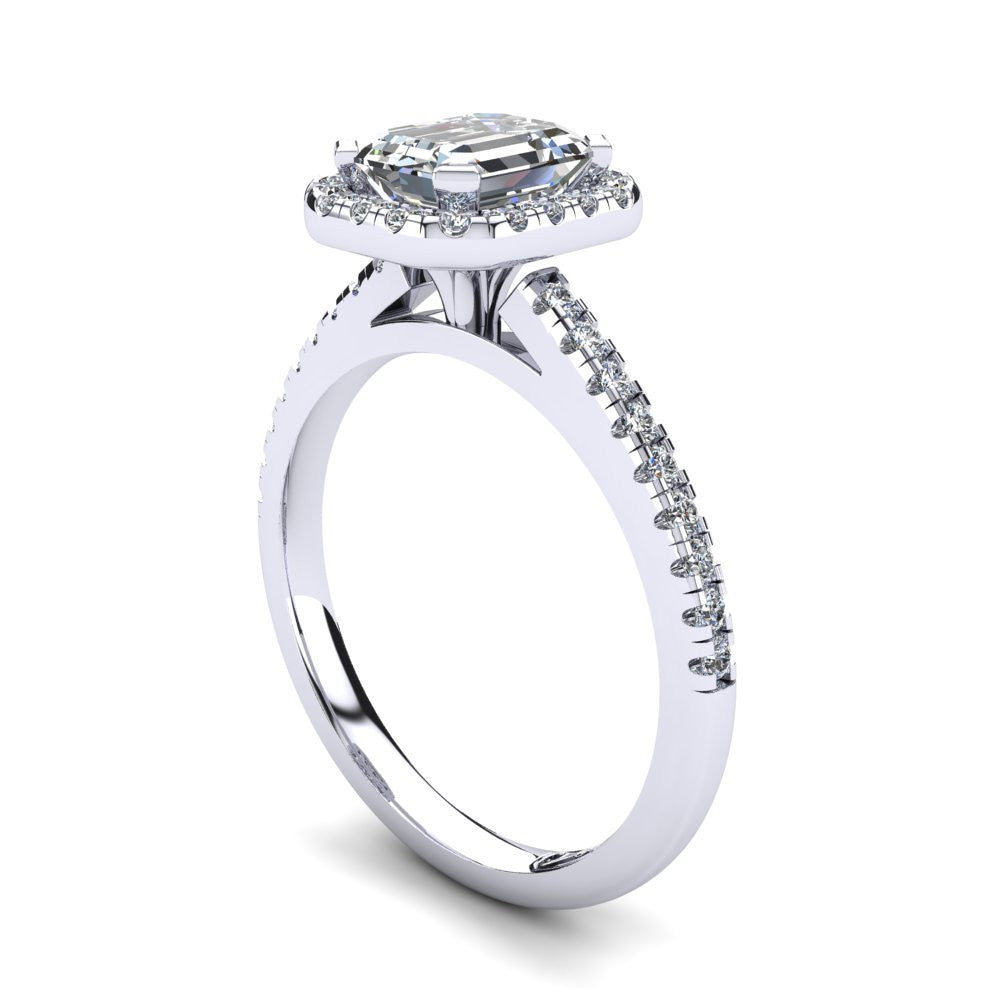'Jenna' Emerald Cut Engagement Ring