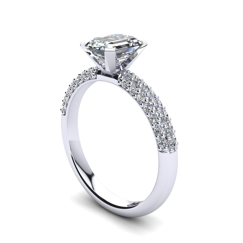 'Kylie' Emerald Cut Engagement Ring