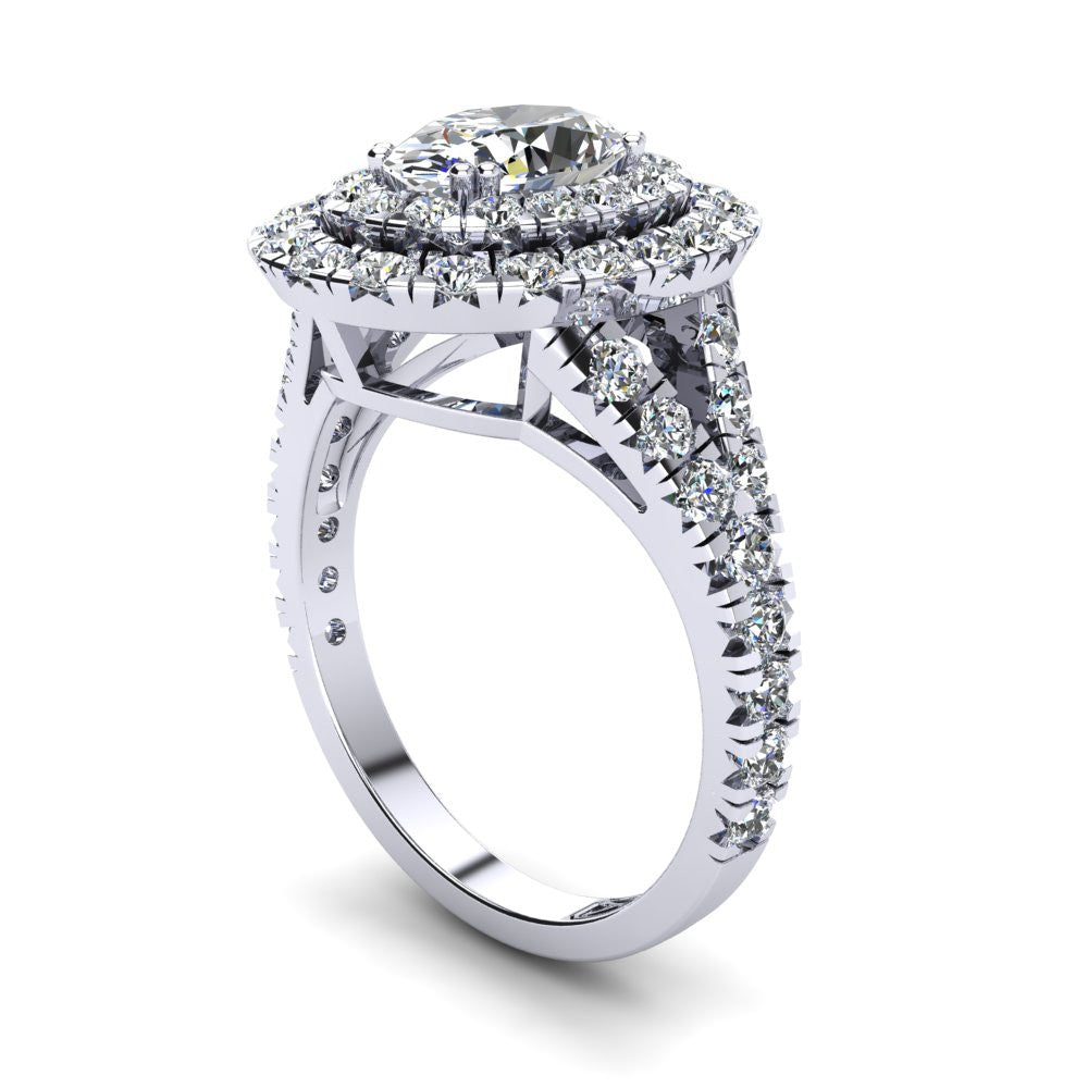 'Emma' Oval Cut Engagement Ring