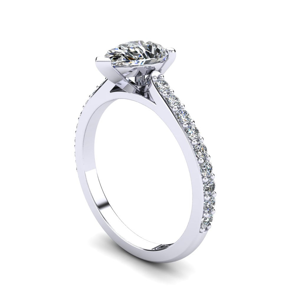 'Sasha' Pear Cut Engagement Ring