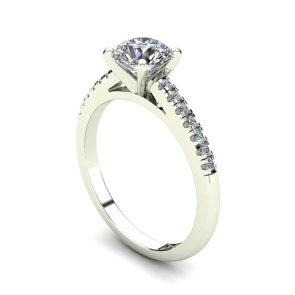 'Julia' Round Brilliant Cut Engagement Ring