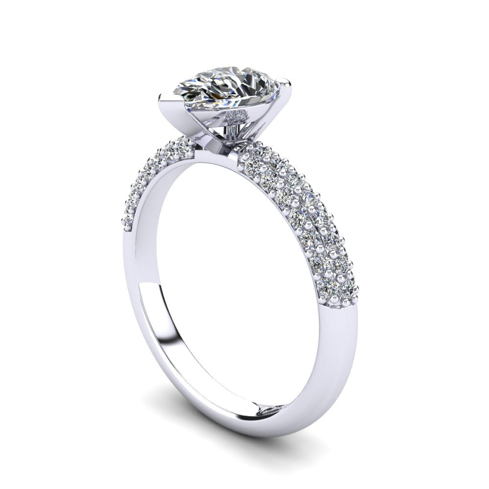 'Kylie' Pear Cut Engagement Ring